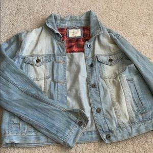 F21 studded back denim jacket